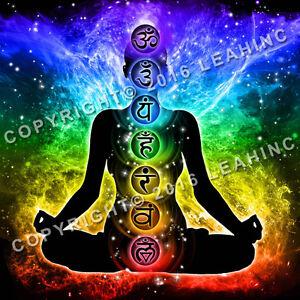 Chakra Nebula Poster Yoga Namaste Meditation Wall Om Hindu