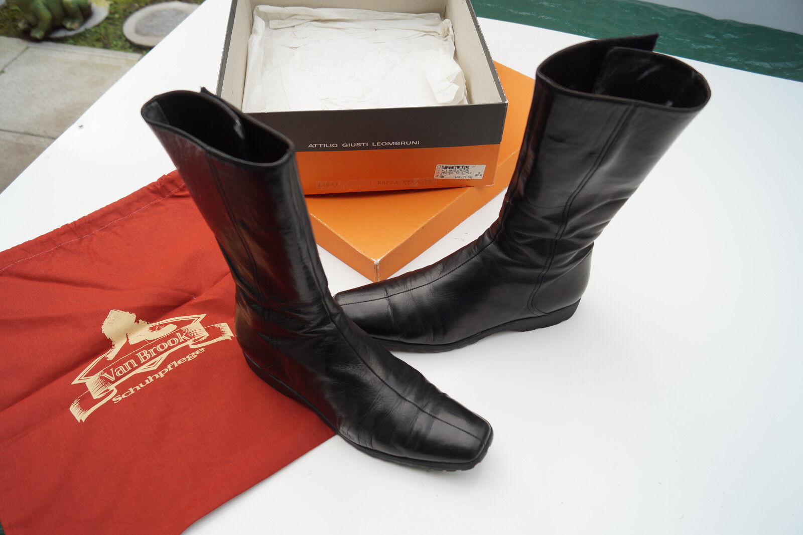 Attilio Giusti Schuhe Leombruni AGL Damen Stiefel Schuhe Giusti Stiefel schwarz Gr.39 Leder TOP fa5849