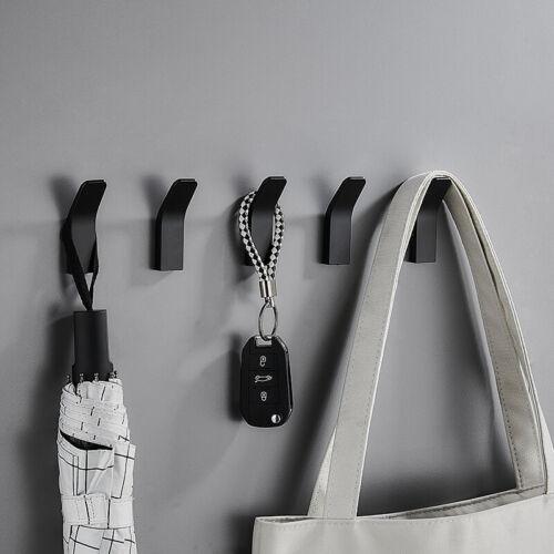 1Pc Punch-free Coat Hook Wall Hanging Single Hook Rack Door Hardrware Decorative