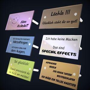 Details Zu Spiegel Tischaufsteller In Vielen Farben Mit Gravur Sprüche Symbol Oder Text
