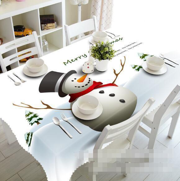 3D Snowman 95 Tablecloth Table Cover Cloth Birthday Party Event AJ WALLPAPER AU
