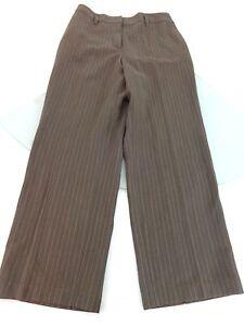 Elegant  EDITOR WOMENS BROWN PLAID LINEN BLEND DRESS PANTS SIZE 2  EBay