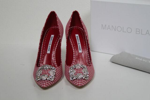 c3be537135b38 Manolo Blahnik Hangisi Crystal Buckle Flat Satin Mule Shoes - Sz 9 / 39 for  sale online | eBay