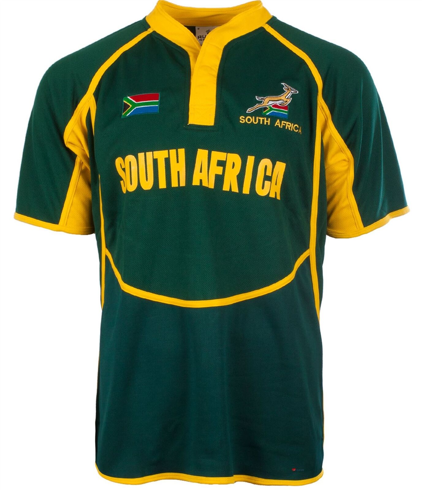 Gents Cooldry Style Rugby Shirt In South Africa Colours Größe 3X-Large