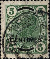 AUSTRIA - Uffici postali austriaci a Creta - 1906 - Austria del 1906 soprastampa