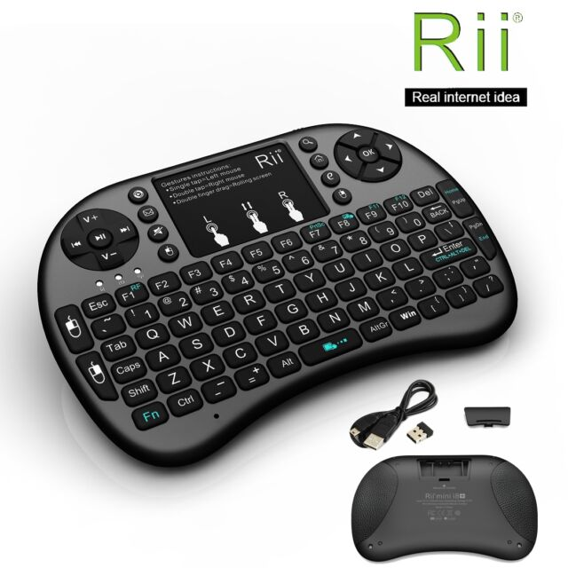 Rii I8 Wireless Mini Keyboard Mouse Touchpad With Backlight for PC Smart TV  Ps4