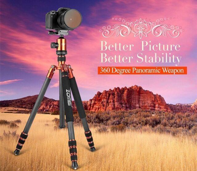 ZOMEI Z818C Pro Carbon Fiber Camera Tripod Monopod Ball Head for DSLR Camera