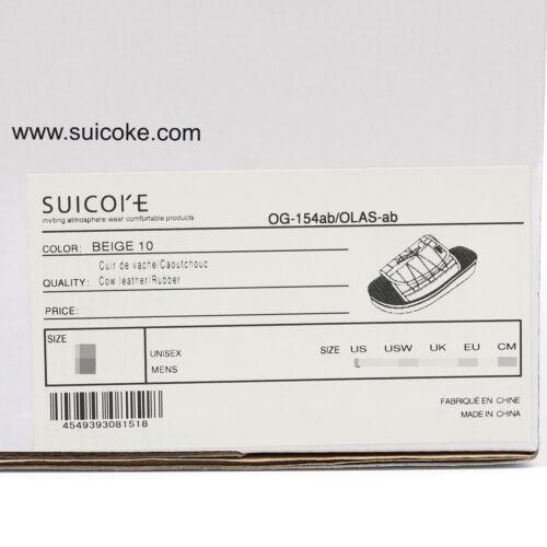 Suicoke 18 OLAS-AB//OG-154ab Beige Orange antibactérien Upper Sandales diapositives