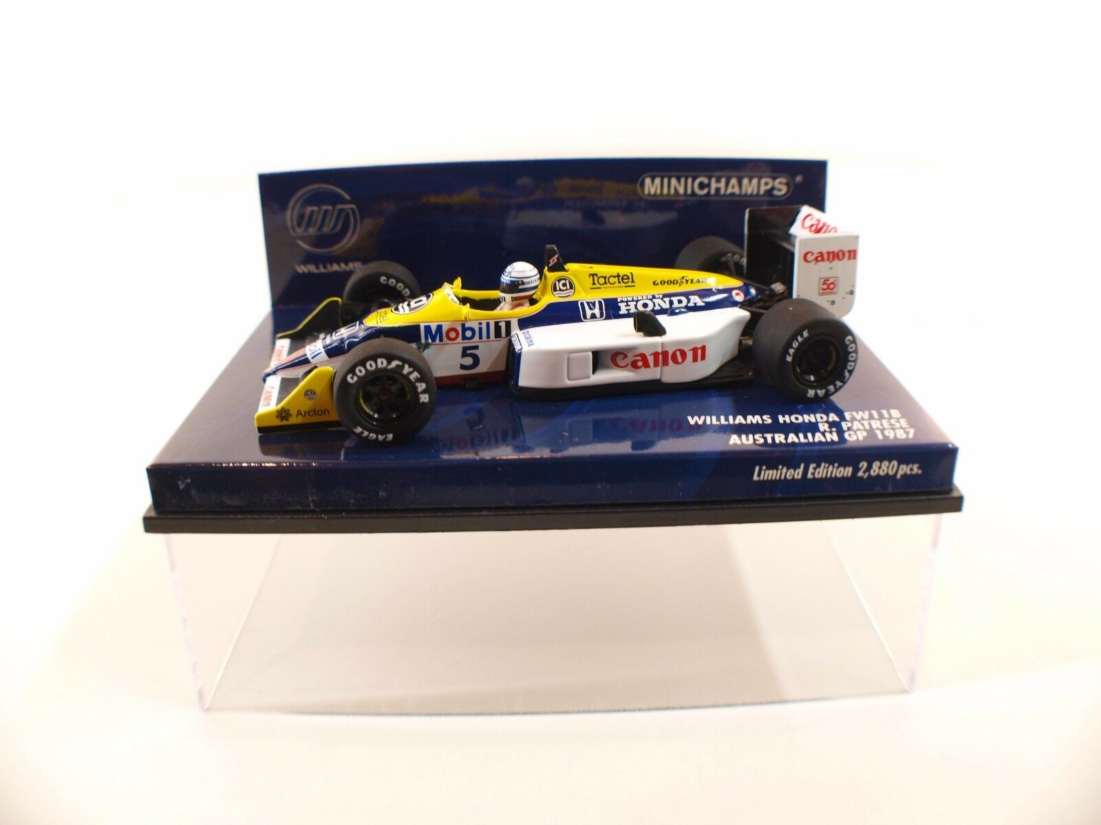 Minichamps Williams Honda FW11B Patrese  5 australian australian australian GP 1987 neuf 1 43 MIB f4ce37