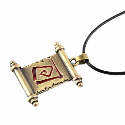 Dota 2 Transfer Scroll Necklace Alloy Pendant Necklac FQB custom cosplay accesso