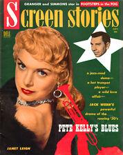 SEPT 1955 SCREEN STORIES Janet Leigh CLARK GABLE Humphrey Bogart JOHN WAYNE