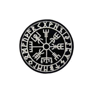 Embroidery-Viking-Vegvisir-Compass-Tactical-Morale-Hook-Loop-Patch-Armband-Badge