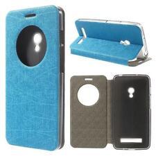 Schutz Tasche Hülle Flip Cover f Asus Zenfone 5 SLIM VIEW BLAU SCHIMMER 12D2