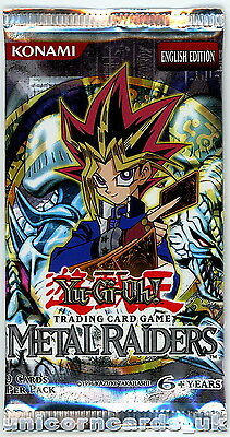 YuGiOh! Metal Raiders New and Sealed YuGiOh Booster Pack