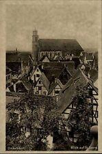 Dinkelsbühl alte Ansichtskarte ~1920/30 Blick auf St. Georg über die Häuser