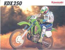 1991 Kawasaki KDX250 D1 250 Enduro Motorcycle Brochure mx4867-QCDCOT