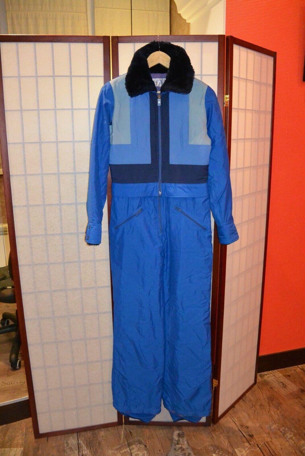 Skimer Blau  retro vintage Skisuit France Paris  42