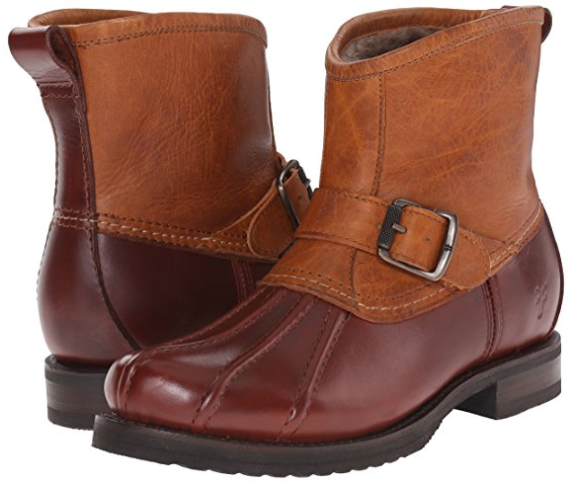 New in Box FRYE Veronica Duck Engineer Shearling Lined Lined Lined Leather Boot Size 6  398 c4e38f