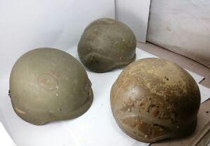 GENTEX-Helmets-War-MILITARIA-Vintage-Soldier-Army-Camo-Collectible-Set-Lot-Green