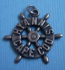Vintage Ella Cone Hyannis Cape Cod ship's wheel Massachusetts sterling charm