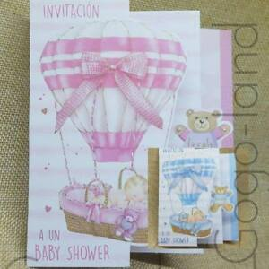 50 Invitaciones Baby Shower Para Niña Niño Español Baby Shower