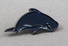 Metal Enamel Pin Badge Brooch Whale Pilot Whale Wale Ocean Aquatic Sea Mammal