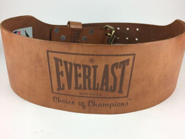 Everlast Leather Weight Lifting Belt Model 1012 Medium Black for sale online