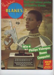 Terry-Nation-039-s-Blakes-7-Magazine-Vol-1-No-5-February-1982-Dayna-Poster