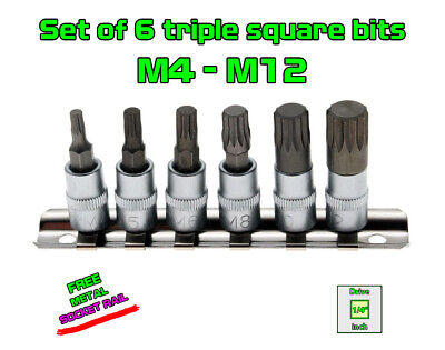 "1//4"" Drive Hexagon Bit Socket Metric Standard 3-10mm Size HEX KING TONY 1//4 inch"