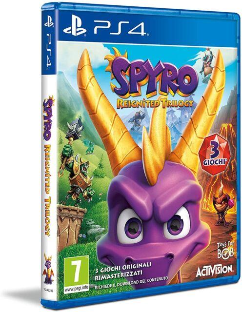 Activision Sony PS4 Spyro Reignited Trilogy 3 GIOCHI IN UNO NUOVO