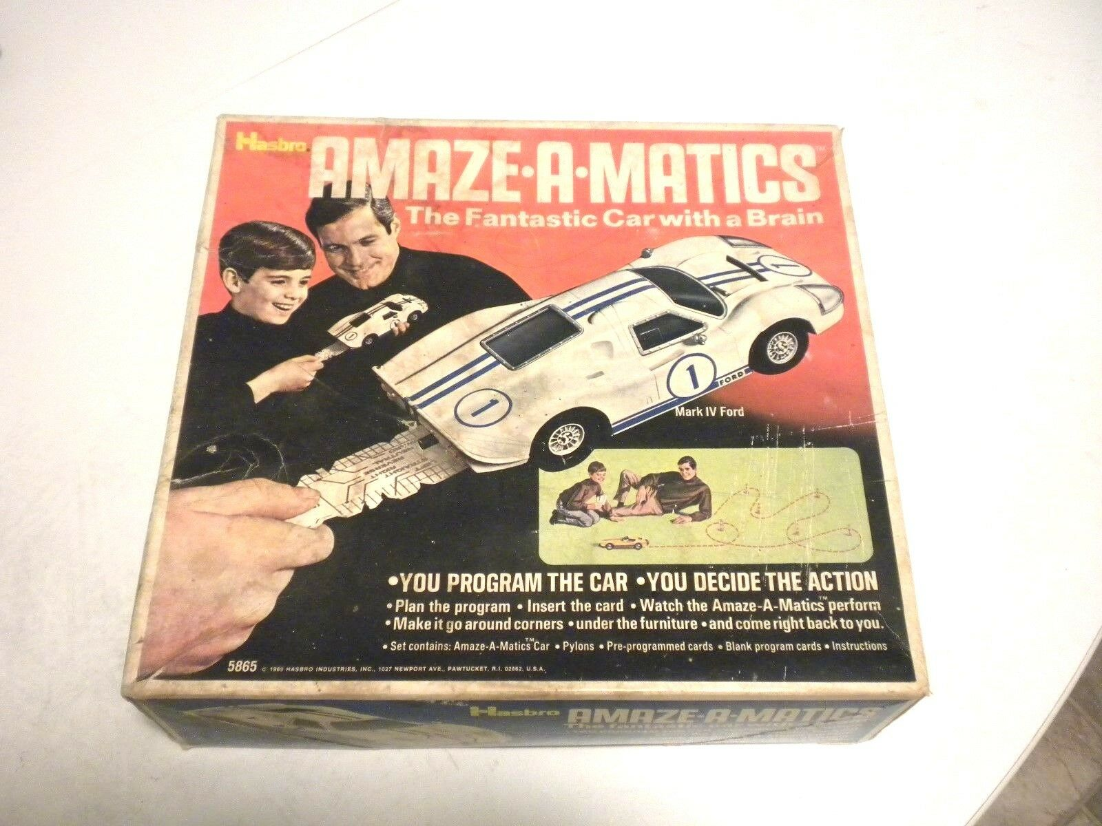 VINTAGE ORIGINAL 1969 HASBRO AMAZEAMATICS 5865 THE FANTASTIC CAR WITH A BRAIN