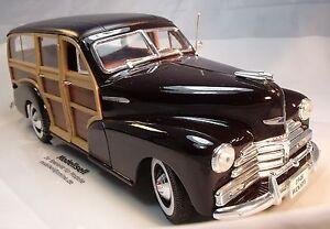 Chevy-FLEETMASTER-1948-Woody-Coche-a-escala-von-Maisto-En-Escala-de-1-18
