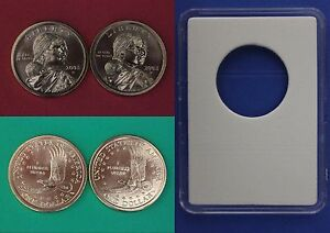 2009 D P Sacagawea Golden Dollars From BU Mint Sets Combined Shipping