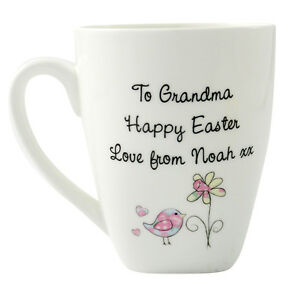 Personalised easter gift mug easter gift idea for mum grandma image is loading personalised easter gift mug easter gift idea for negle Images