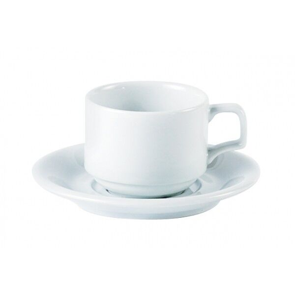 Porcelite 5.75  15cm Double Welled Saucer x 12 Coffee Tea Saucer Catering