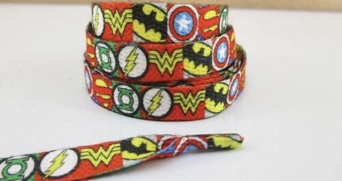 1 Set Of Colorful Super Heroes Shoelaces For Children 44 Inch Lisa