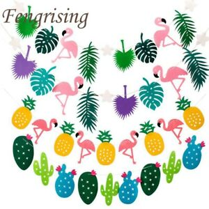 Flamingo-Pineapple-Summer-Party-Leaves-Garland-Bunting-Banner-Birthday-Decor
