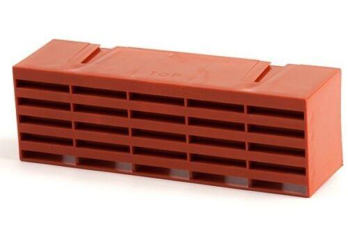 """Timloc 1201 Plastique Air Brique Briques AIR VENT 9 /""""x 3/"""" en terre cuite boîte de 20"""