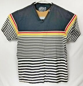 LNG Premium Fit  V-Neck Striped T-shirt Mens Size 2XL