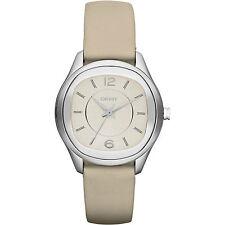 DKNY NY8809 Imperio Tono Plata Correa De Cuero Reloj de Señoras -- 2 Años De Garantía