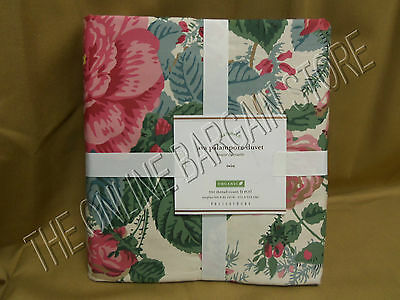 Pottery Barn Ava Palampore Bed Duvet Cover Organic Roses Parrots Print Twin