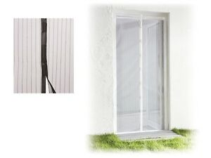 Mosquito-Door-Screen-Natural-Insect-Protection-Magnetic-100-x-220cm-Black-White