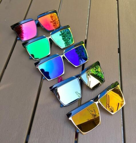 Oversized Large Vintage Style Frame Top Brow Reflective Aviator Sunglasses 3873