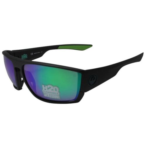 Dragon Cutback H2O Sunglasses Matte Black Polarized Green Ion Lens 35143008