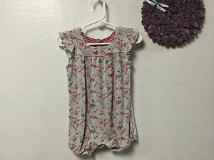 db631822a1f2 Baby girl romper OLD NAVY size 12 to 18 months gray red hearts ...