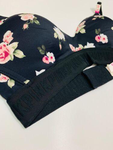 Victoria/'s Rosa Wear Secret ovunque Wireless push-up RRP £ 32 Floreale