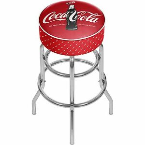 Officially Licensed Coca Cola 174 Padded Bar Stool 100th