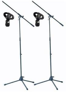 2-St-ADAM-HALL-Mikrofonstaender-S5B-mit-Mikrofonklemme-MH-1-Mikrofonstativ-NEU