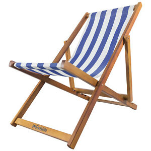 Image Is Loading Woodside Traditional Folding Beach Garden Wooden Deck Chair