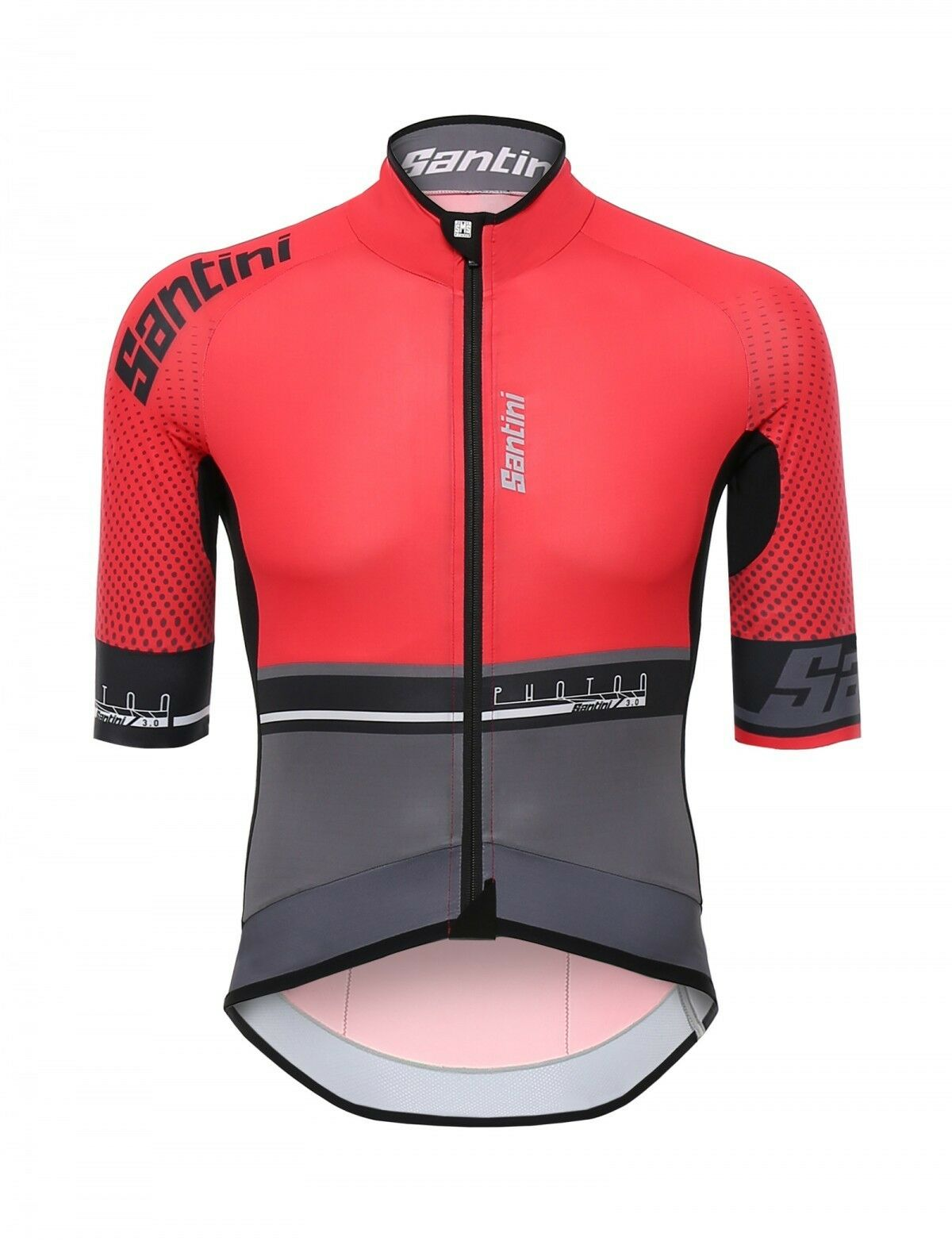 MAGLIA SANTINI PHOTON 3.0 red black tg. XXL